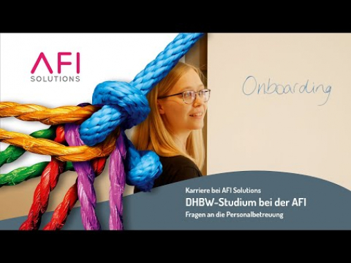 Karriere bei AFI Solutions: DHBW-Studium und AFI passen gut zusammen