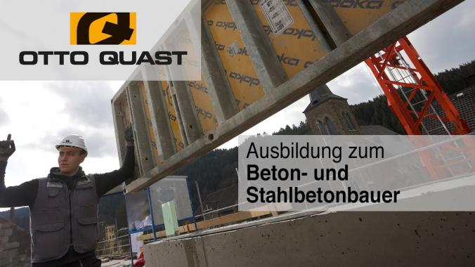 Ausbildung zum Beton- und Stahlbetonbauer (Baustelle) bei OTTO QUAST