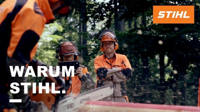 WARUM STIHL. Projektteam Wettkampfsäge MS 500i