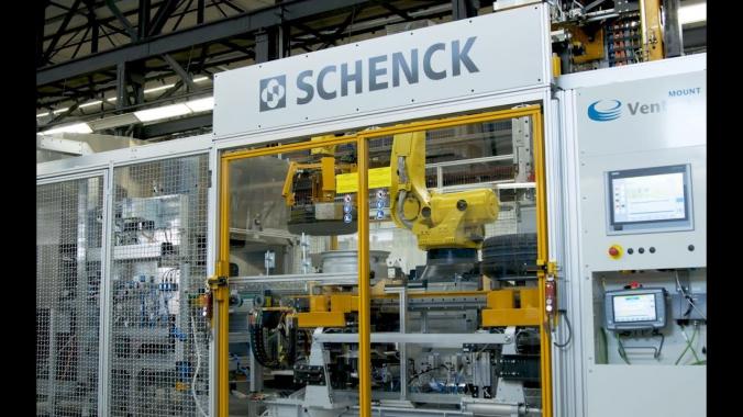 Schenck Reifen & Räder Montagelinie